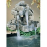 Nature Cast Stone Rock Falls Pond Ornament Fountain Finish: Natural