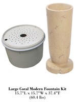 Large Coral Modern Fountain Kit