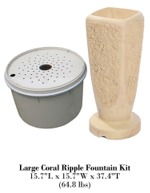 Large Coral Ripple Fountain Kit