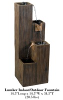 Lumber Indoor/Outdoor Floor Fountain