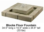 Blocks Floor Fountain