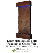 Large Slate Nojoqui Falls Fountain in Copper Vein