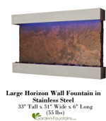 Large Horizon Wall Fountain in Stainless Steel