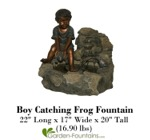 Boy Catching Frog Fountain