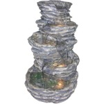 Five Level Rock Pond Fountain Color: Gray
