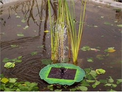 Floating Solar Pond Lily Fountain