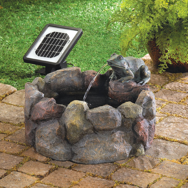 Frog Hollow Solar Water Fountain