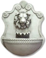 Lion & Shell Wall Water Fountain