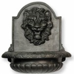 Lion Fountain in Faux Lead Finish